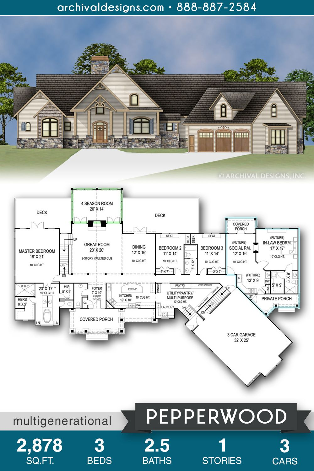 House Plans Rustic Ranch Open Floor 47 Ideas Rustic House Plans Country House Plans Ranch Style House Plans