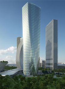 TCB Torre Hadid, Milan, Italy. Designed by Zara Hadid and featuring a double skin façade | Arup