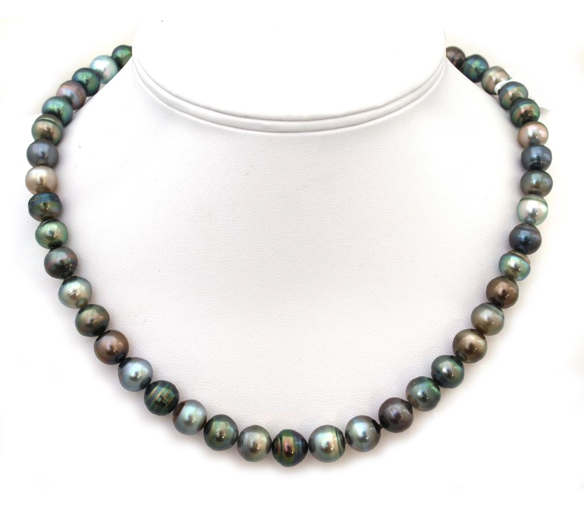 911mm Tahitian Pearl Necklace With Fancy Multicolor Pearls