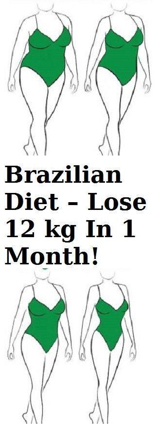 Brazilian Diet - Lose 12 kg in 1 Month! - Fogyás, Hasizom..