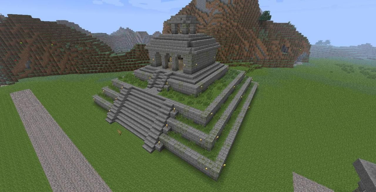 Mayan Temple Minecraft Project Minecraft Temple Minecraft Projects Minecraft Blueprints