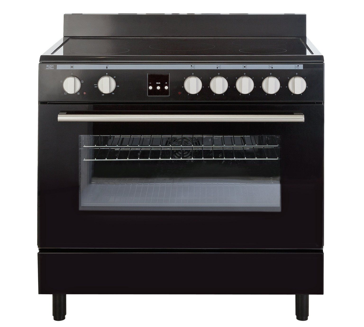 Medium image of buy bush bsc90eb electric range cooker   black at argos co uk   your