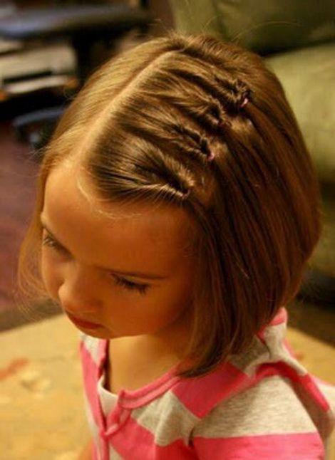 Прически на короткие волосы ребенку