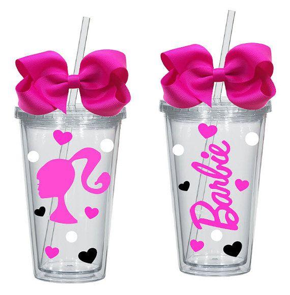 Barbie Zebra Theme 1st And 5th Birthday: Barbie Girl 16oz Acrylic Tumbler By InviteMeToTheParty On