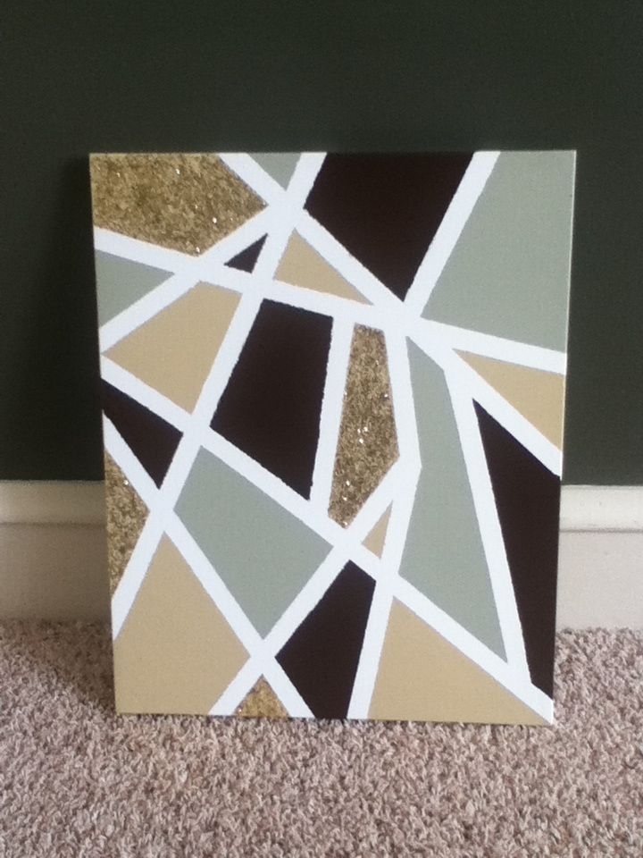 Just Tape And Paint Canvas Painting Diy Diy Canvas Art Diy Canvas