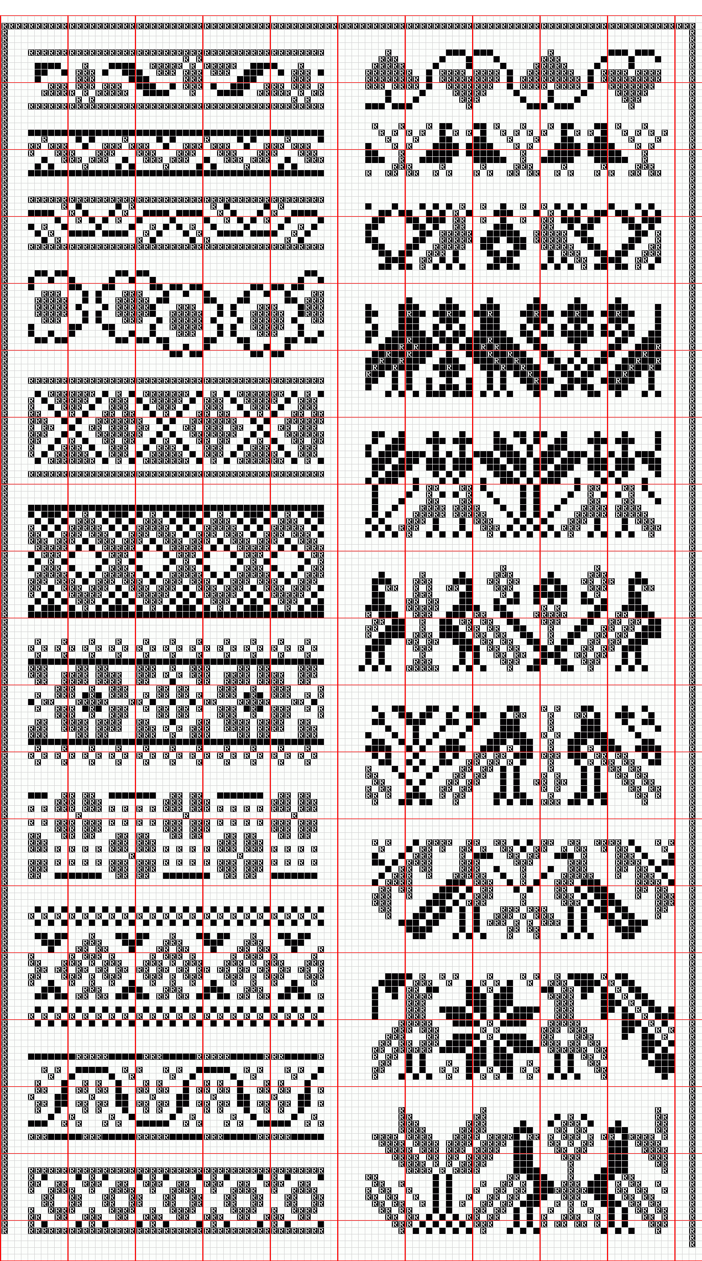 Patterns Knitting Charts Fair Isle Knitting Patterns Cross Stitch Patterns