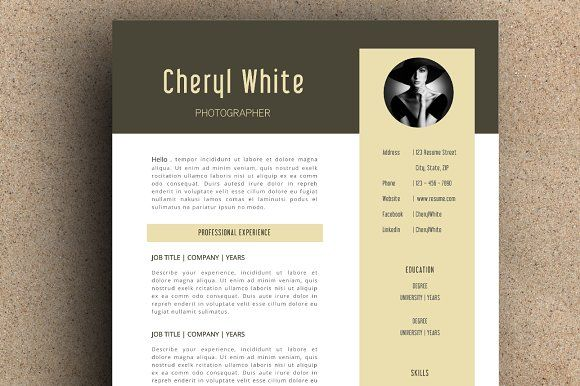 The Cheryl Resume Pack by LeResume on @creativemarket Beautiful - beautiful resume designs
