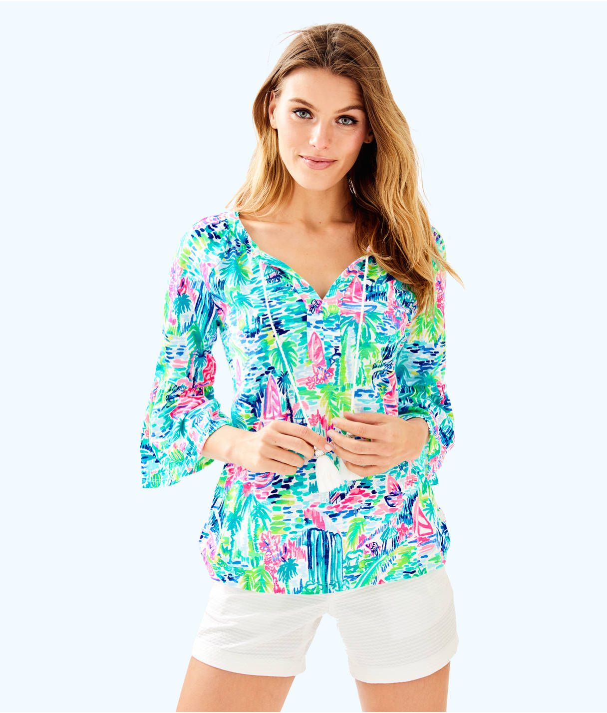 8aa5ad8ea06abe Del Lago Tunic, Multi Salt In The Air, large Lilly Pulitzer Prints, Lily
