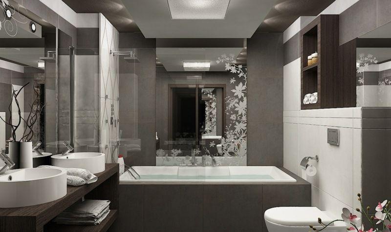 Petite salle de bains avec wc 55 id es de meubles et d co for Baignoire petite salle de bain