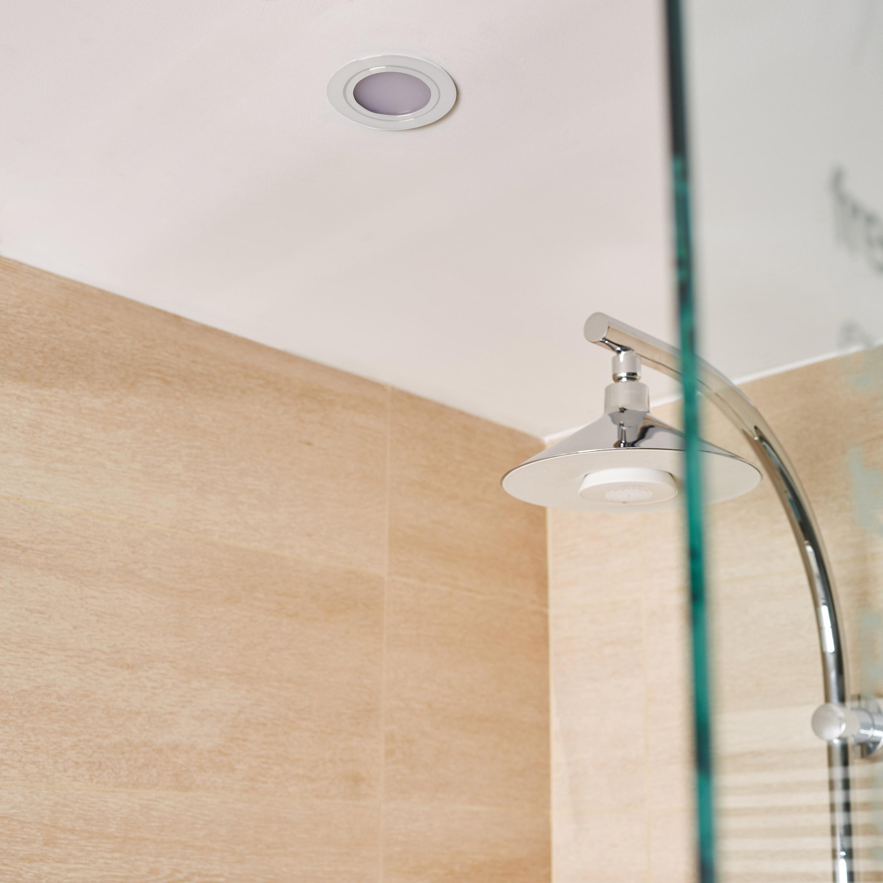 Kit 1 Spot A Encastrer Salle De Bains Orientable Inspire Led Integree Blanc Salle De Bain Led Et Spots