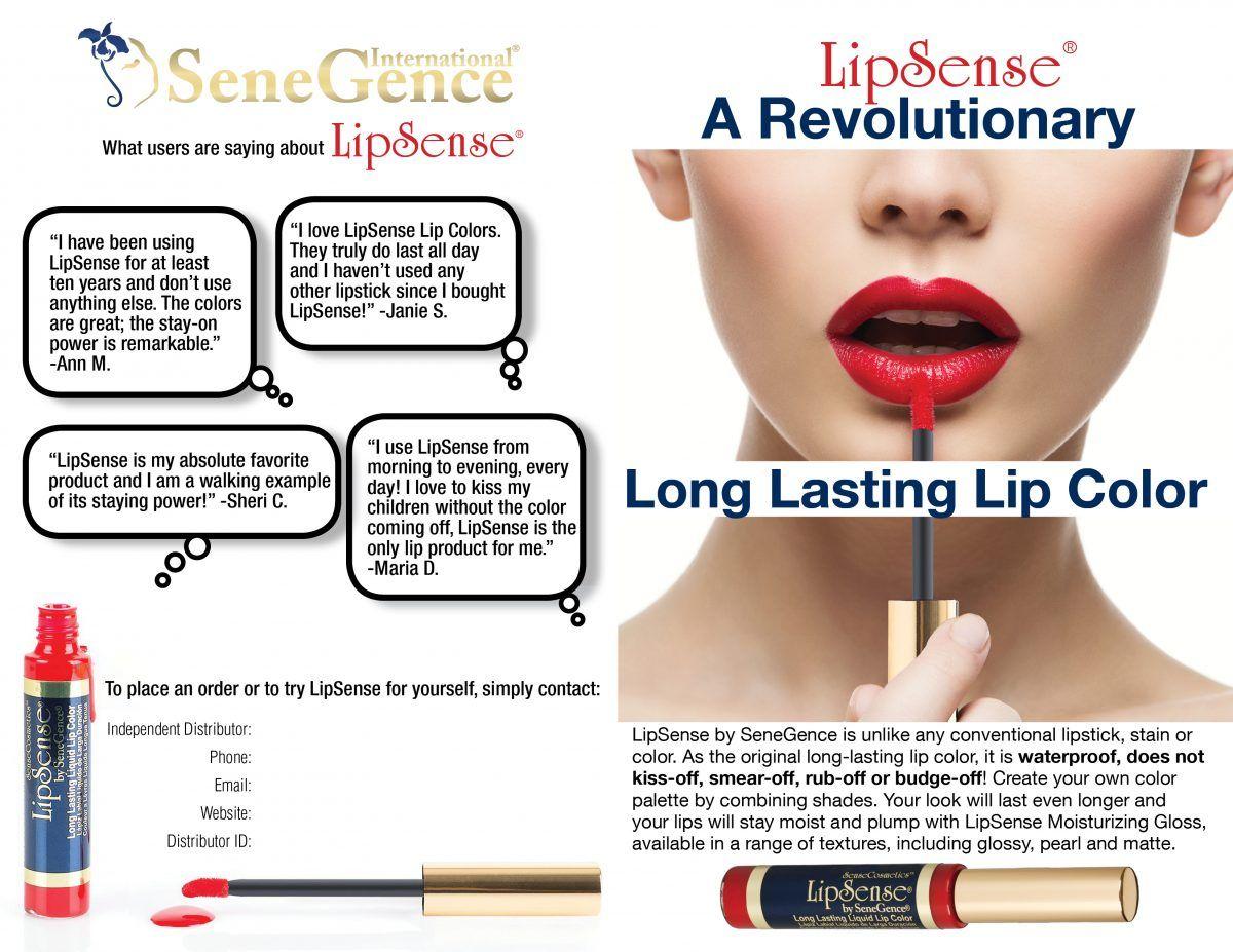 LipSense by SeneGence is a long lasting lip color. It lasts 4-18 ...