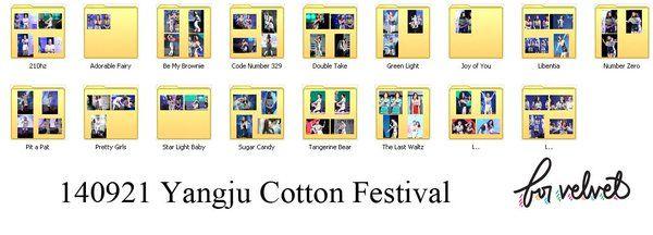 """For Velvet on Twitter: """"[COMPILATION] 140921 Yangju Cotton Festival https://t.co/HCgHJjwRRr http://t.co/58npdGUpjI"""""""
