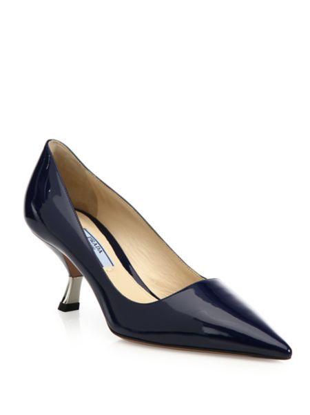 339f6348fac7 Prada - Curve-Heel Patent Leather Pumps