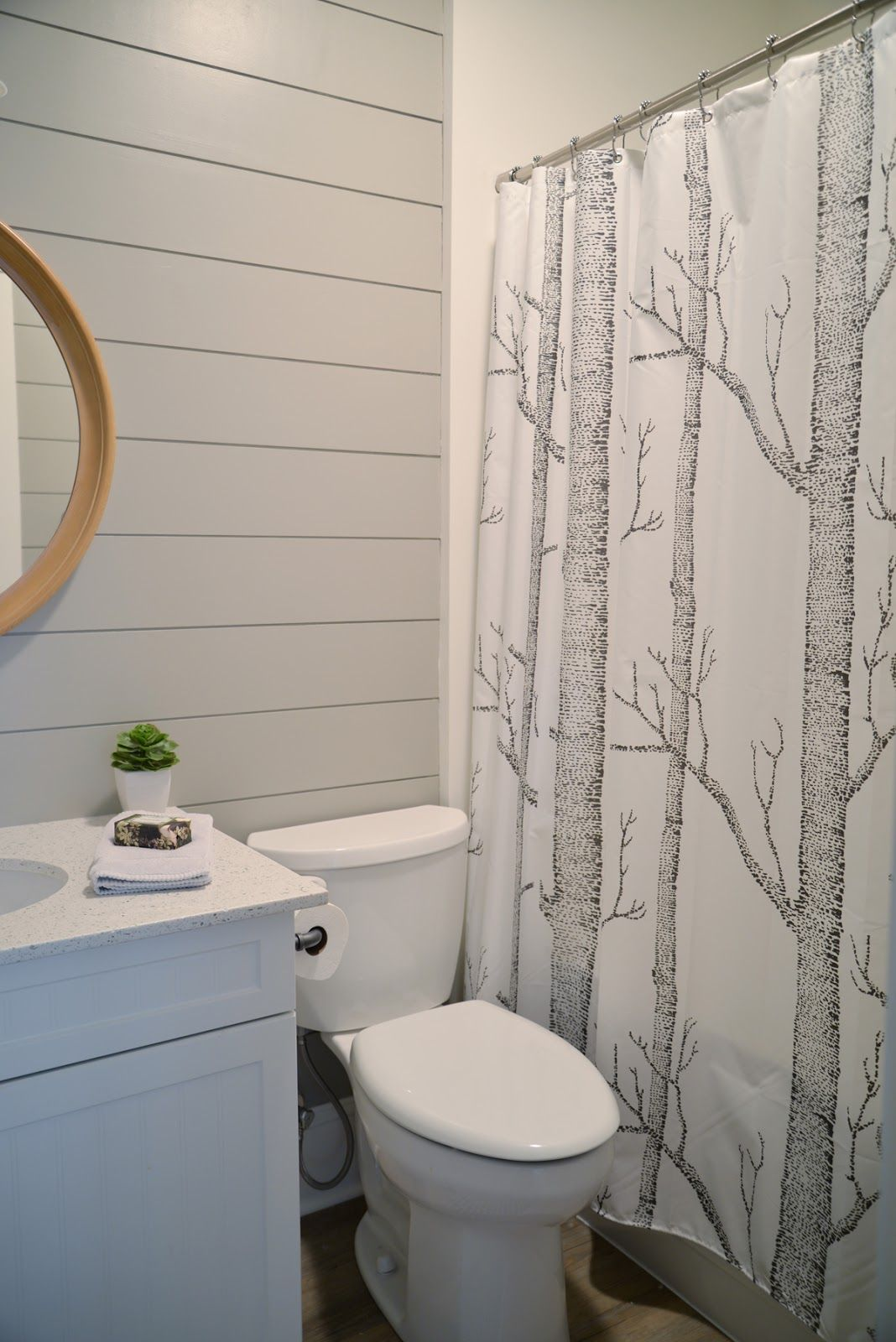 Painted Shiplap In The Bathroom In 2020 Modern Farmhouse