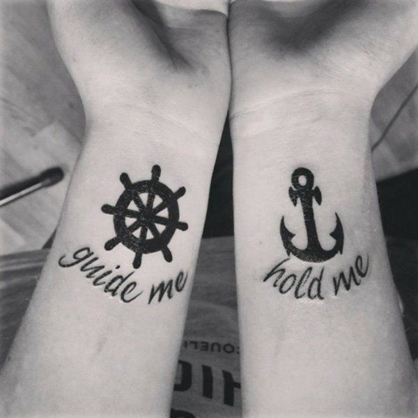 30+ Couple Tattoo Ideas | Perfect fit, Symbols and Wheels