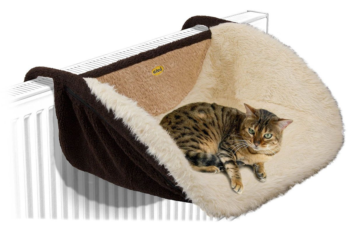 Deluxe Cat Radiator Bed Large Fleece / Faux Sheepskin