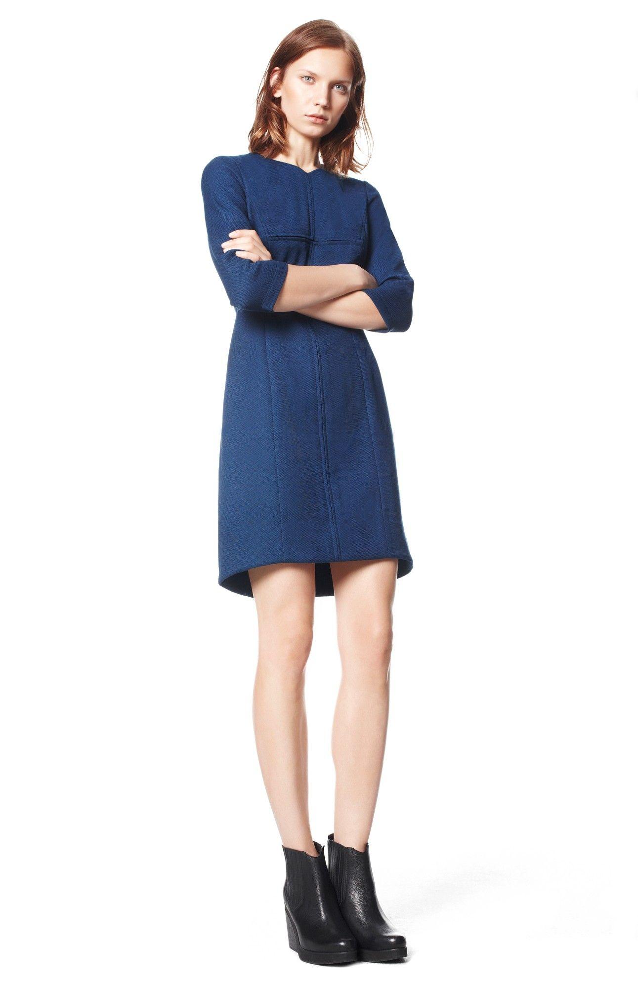 Vestido detalles ecopiel vestidos adolfo dominguez for Vestidos adolfo dominguez outlet online