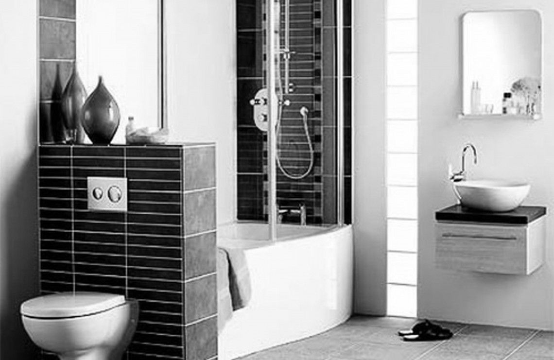 How to decorate a small bathroom in black and white - White Tile Bathrooms Bathroom Black Small Bathrooms Small Bathroom Designs Bathroom Ideas Black And White Tiles Bright Ideas