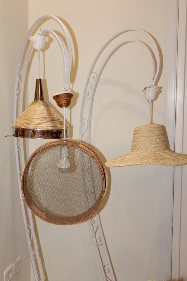L Entonnoir Le Ghorbel Et Chapeau Reconvertis En Luminaires Idees Creatives Table Basse Linge De Maison