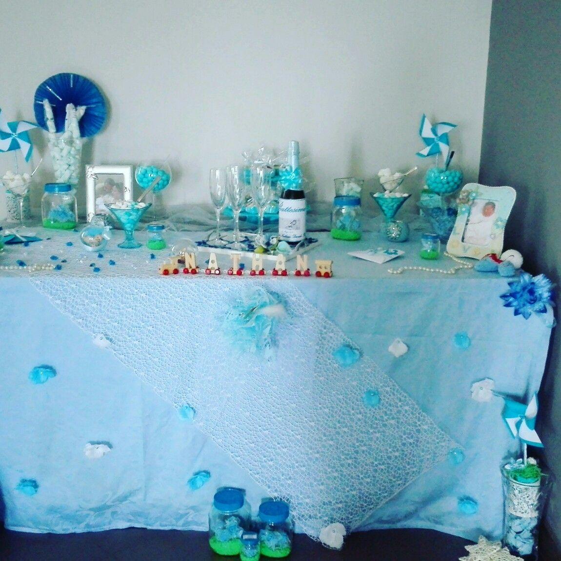 tavolo confettata e carmellata bomboniere battesimo
