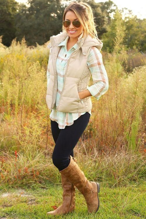 beige puffer vest with shirt outfit, How to wear puffer vests http:// - Beige Puffer Vest With Shirt Outfit, How To Wear Puffer Vests Http