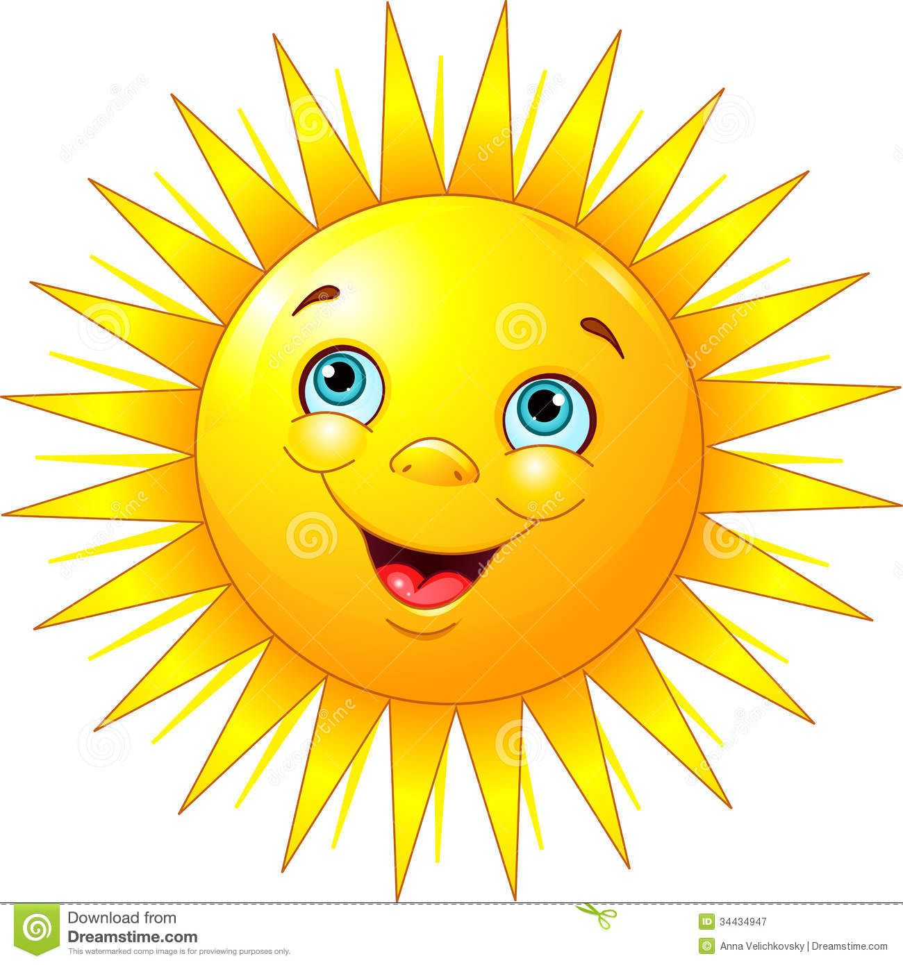 Smiling Sun Royalty Free Stock Photography Image 34434947 Cartoon Sun Clipart Smiley Sun Illustration