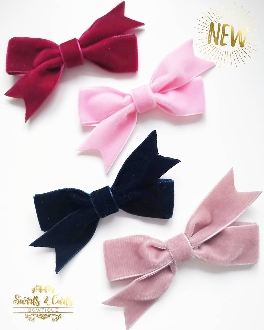 """Wedding Hairstyles For Bows Buds Tiaras And More From: Swirls & Curls Bowtique On Instagram: """"New Velvet Ribbon"""