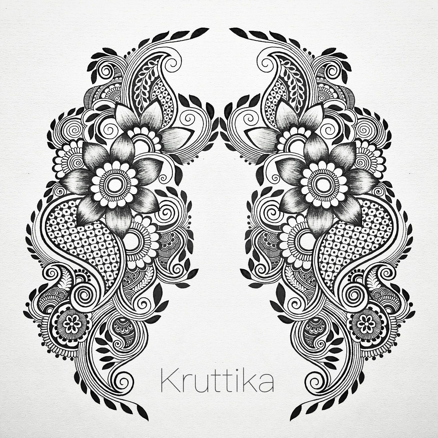 Freehand Symmetrical Designs Design Ideas Hand Drawn Illustrations