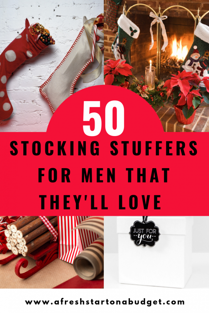 more than 50 Stocking Stuffers for men they will actually want - A Fresh Start on a Budget