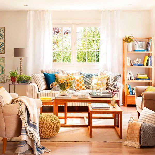 Con cinco muebles basta para decorar el sal n - Salones de ensueno ...