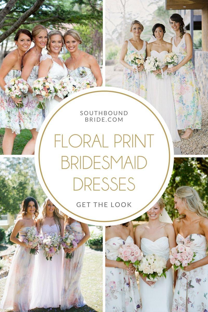 Floral print wedding dresses  Get the Look Floral Print Bridesmaid Dresses  Best Printed