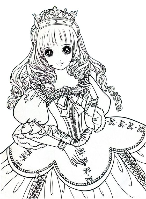 Princess coloring page edited