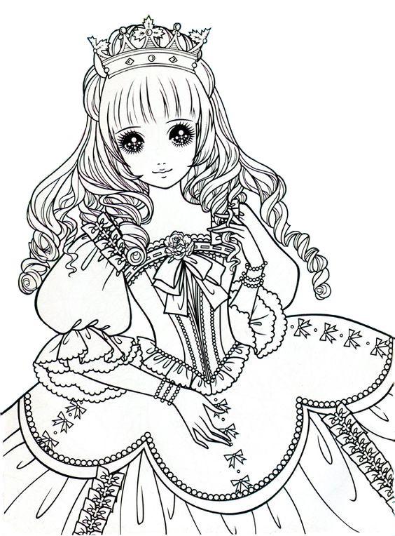 Princess Coloring Page Edited No Tacky Background Version Coloring Page Coloringpage Coloring P Princess Coloring Pages Cute Coloring Pages Fairy Coloring