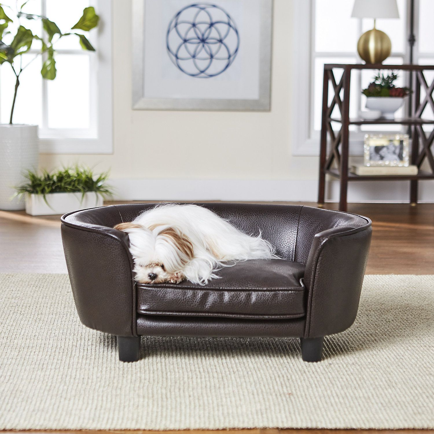 Enchanted Home Pet Pebble Brown Coco Pet Sofa 26 5 L X 16 W X 11 H Dog Bed Enchanted Home Bed