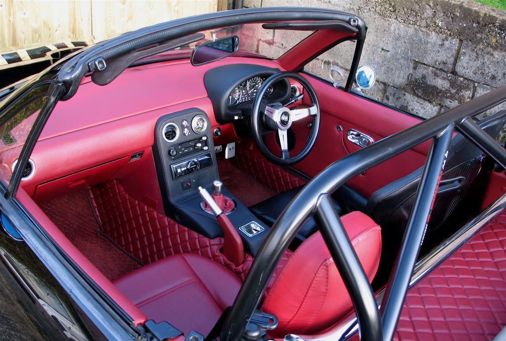 Na Mazda Miata Custom Red Interior