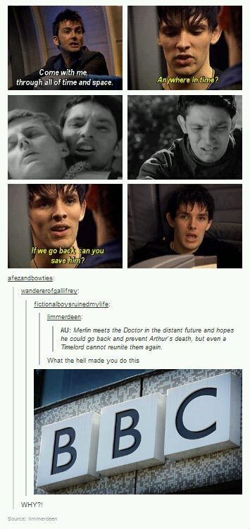 Merlin and Doctor Who crossover. *tears*