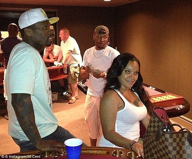 Party's over: 50 Cent parties in his own private casino in his mansion. He is the fourth p...