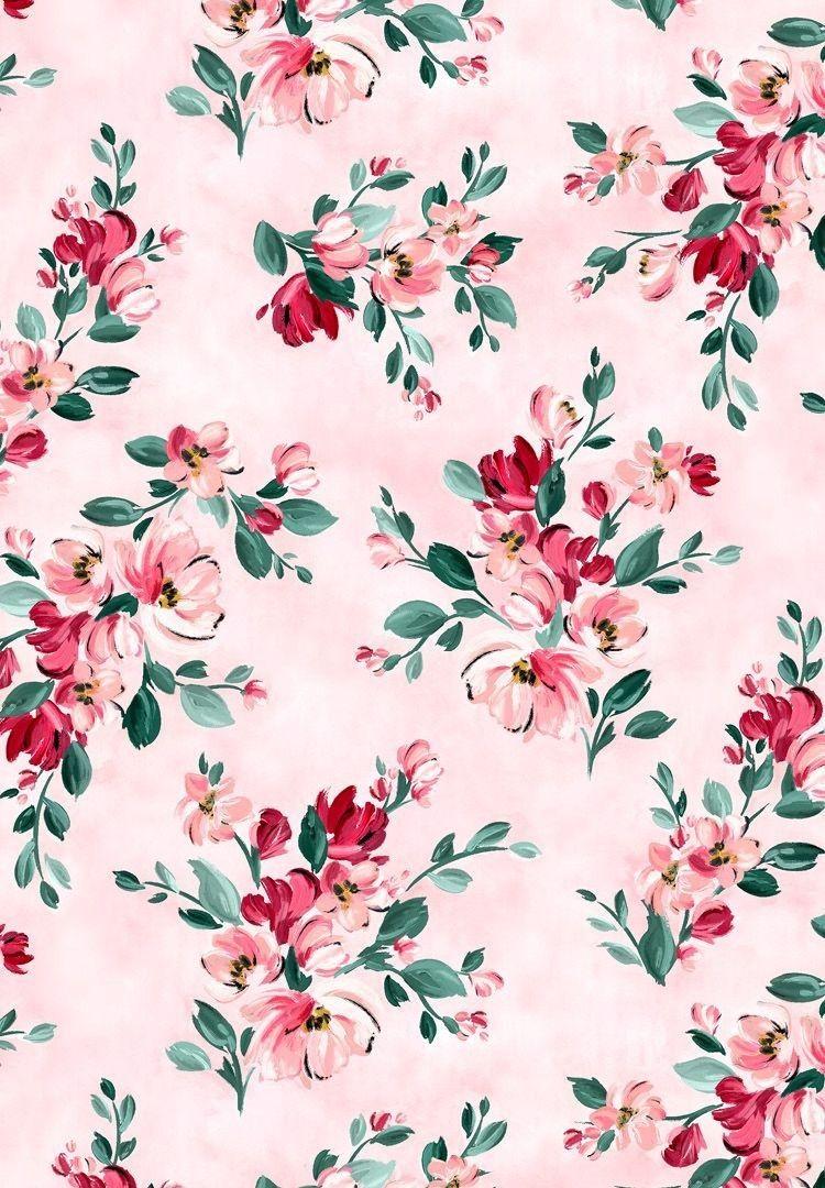 Walpaper Cetakan Bunga Wallpaper Iphone Bunga Vintage