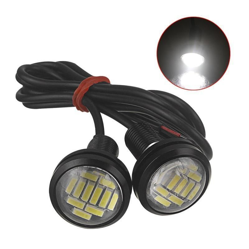 2 Pieces White 12v 15w Eagle Eye Led Drl Backup Light Motor Car Lamp Deco Moto Voiture Deco Voiture