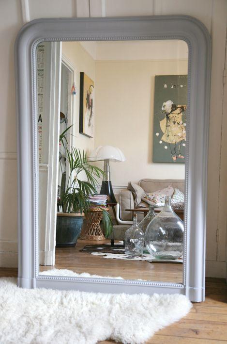 Miroir Louis Philippe 140 cm de haut ! # wwwmadamelabroc - Comment Decorer Un Grand Mur