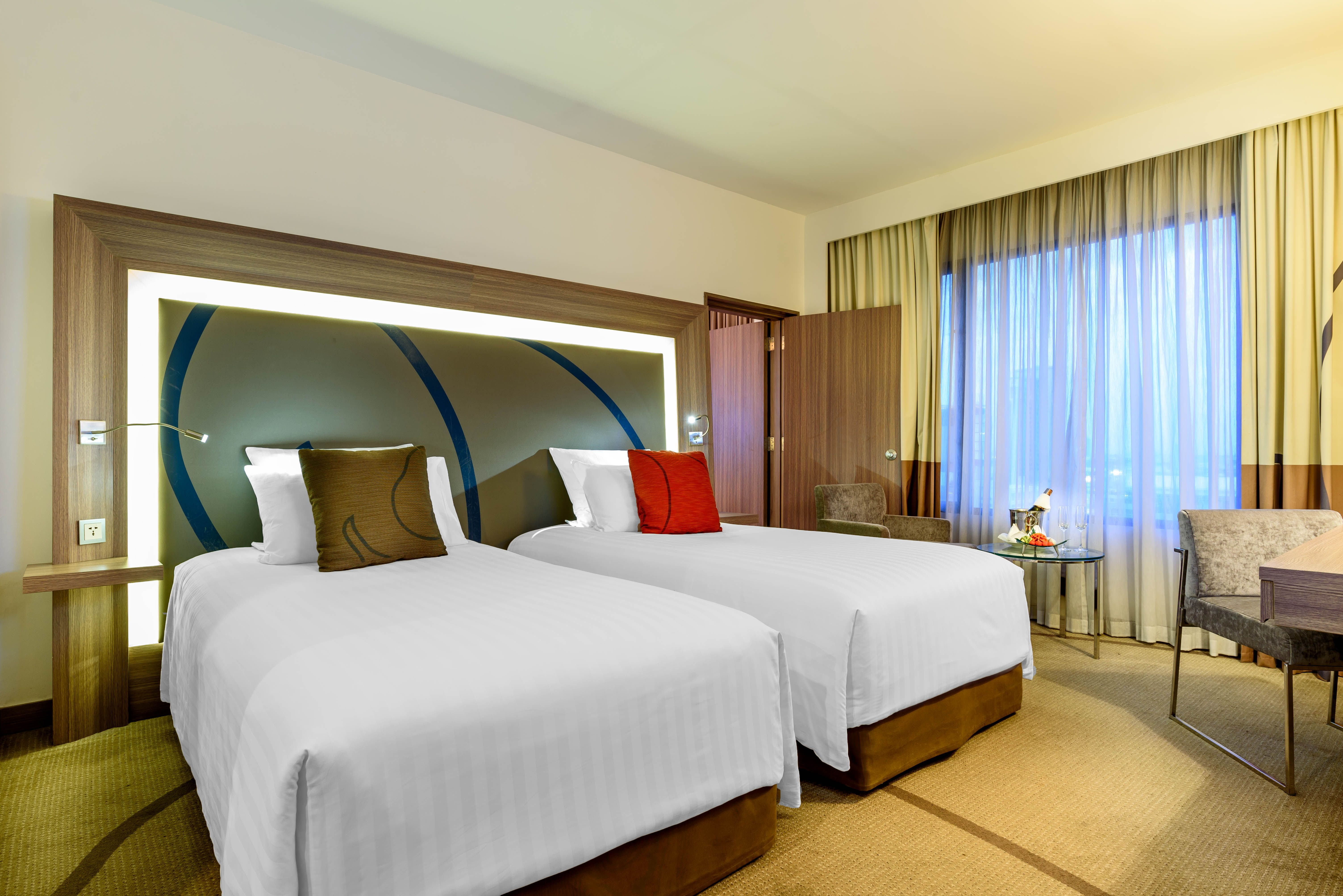 The Bangkok Hotel S 84 Square Metre Two Bedroom Suite Features Separate Living Dining And Sleeping Areas The Two Bedroom Suites 2 Bedroom Suites Bedroom Suite