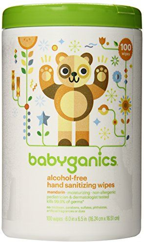 Babyganics Alcoholfree Hand Sanitizer Wipes Mandarin 100 Count