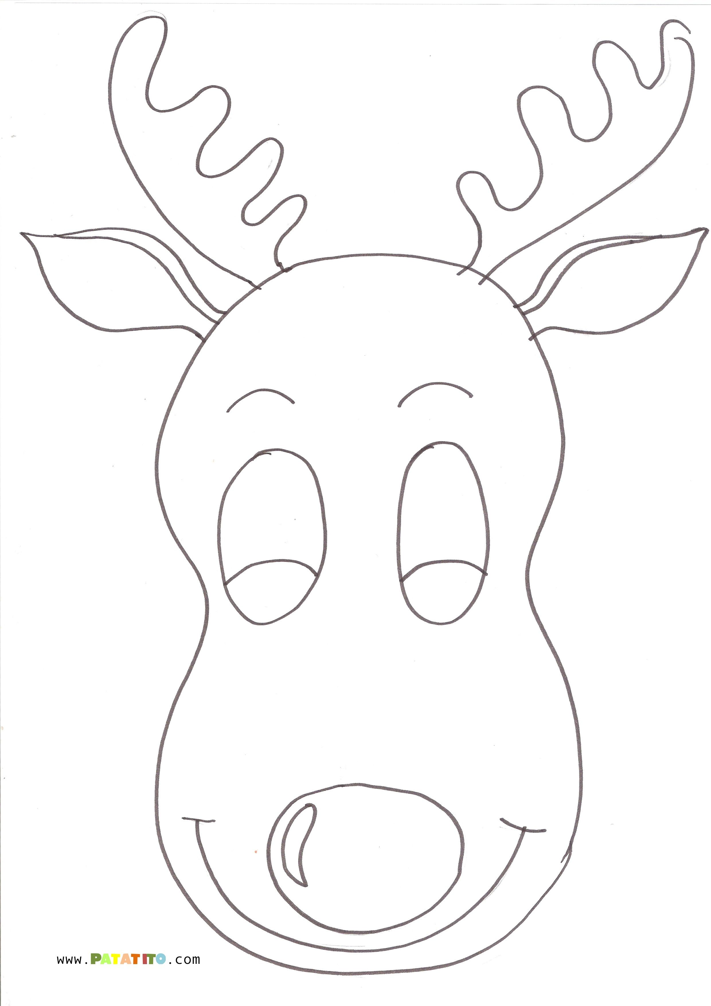 Navidad - Dibujos para colorear - Reno | Manualidades navidad ...
