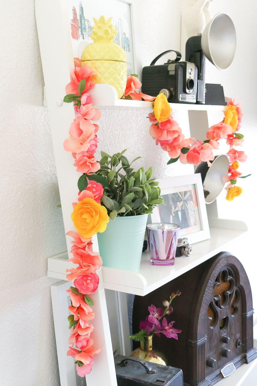 DIY Floral Garland for Spring Floral bedroom, Floral