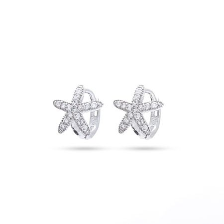 7e5c52a3f Add some sparkle to your ears with these Sterling Silver Petite CZ Starfish  Huggie Earrings #starfish #sterlingsilver #earrings #nautical