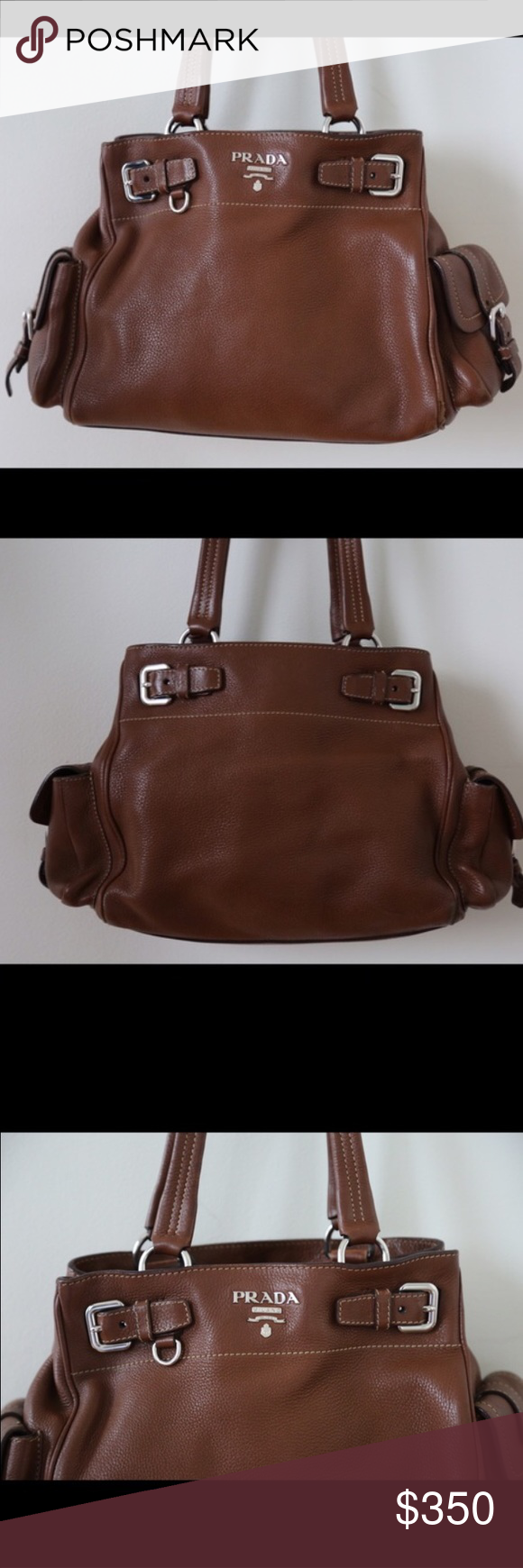291e54c890 Vintage Prada Handbag Vintage Prada Handbag in great condition. Willing to  negotiate. Brown leather. Prada Bags Shoulder Bags