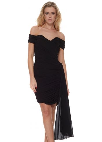 The Little Black Dress Diana Dress Off The Shoulder With Detachable