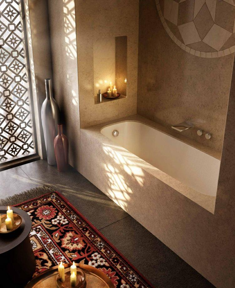 Badezimmer-einrichtung: Nische Mit Badewanne Und Ablgage | Room ... Badezimmereinrichtung
