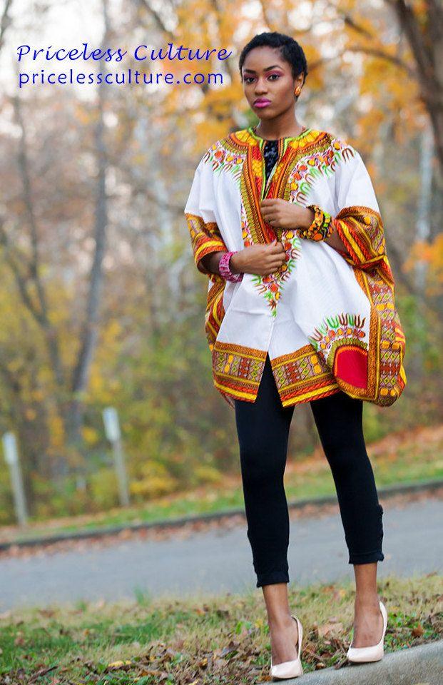 Dashki Fabric African Fashion Ankara Kitenge African: Oversized Dashiki Kimono, Ankara Kimono, African Clothing