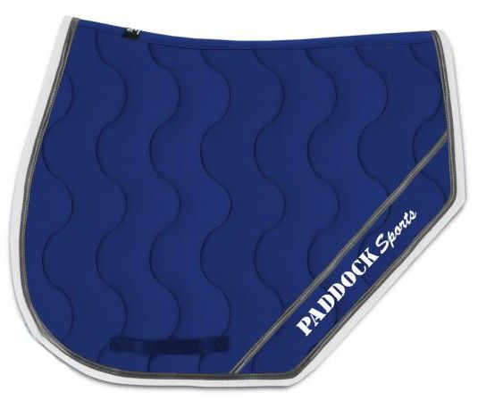 Tapis Sport Bleu Roy Avec Logo Blanc 11 Paddock Sports Horses